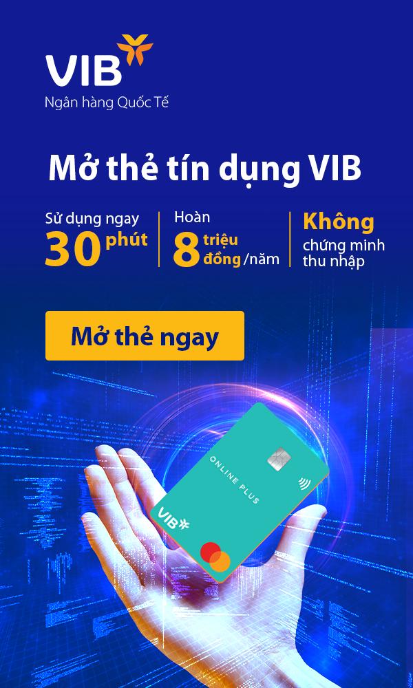 Mở thẻ tín dụng VIB online